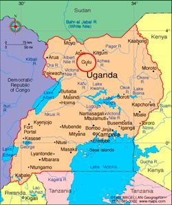Gulu Uganda Map Dan and Jodes in Gulu Uganda