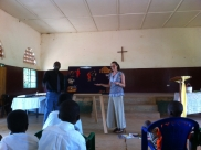 Teaching at a children's church service.
