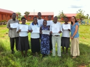 With primary school teachers from Mercy's Village school just outside of Gulu - loved spending a week with them!