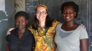 Jody with P1 teachers at Layibi Techo (Teacher Irene and Teacher Winny)