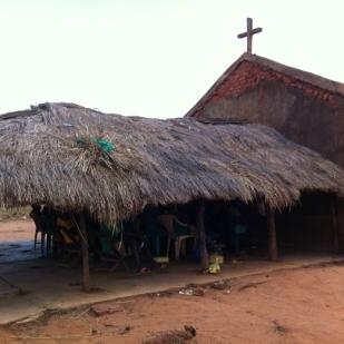 School classroom built from church ruins.
