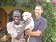Our catechist from church, Ronald, with Dan and the lovely Ned.