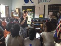 Leah teaching some teachers in Gulu