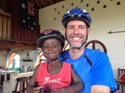 Dan and Myron after a bike ride.